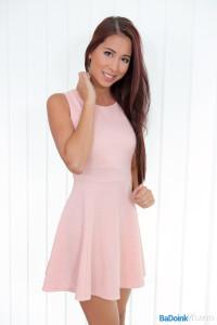 Paula Shy 18 years old Czech girl in dress