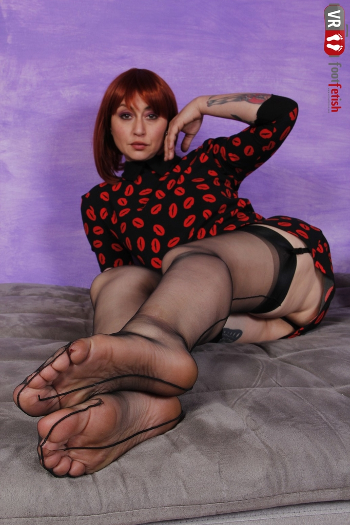 She teases and tempts you with her sexy figure and feet